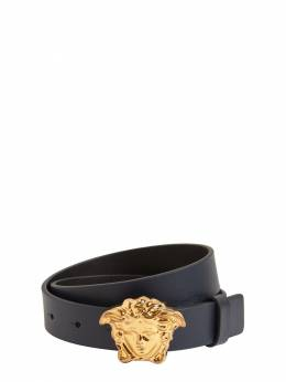 Leather Belt W/ Medusa Buckle Versace 72ILXR001-WVNCOEY1