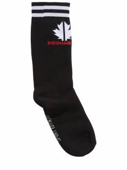 Cotton Blend Knit Socks Dsquared2 72ILXM021-RFE5MDA1