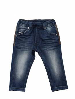 Washed Cotton Denim Effect Jeans Diesel Kids 72ILXK009-SzAx0