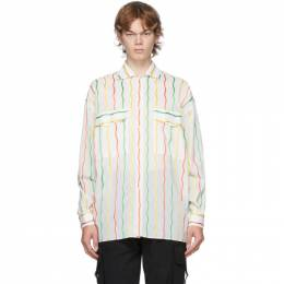 Moschino White Stripe Fantasy Shirt 0212 7033