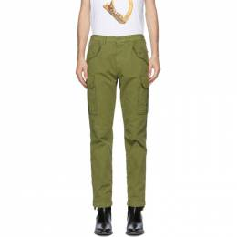 Moschino Green Plain Cargo Pants 0316 7019