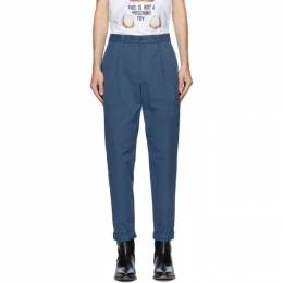 Moschino Blue Fantasy Print Trousers 0357 7017