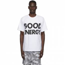 Moschino White Good Energy T-Shirt 0715 7040
