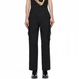 Moschino Black Plain Cargo Pants 0331 5218