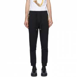 Moschino Black Large Zipper Lounge Pants 0309 5227