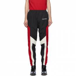 Moschino Black and Red Broken Logo Track Pants 0343 5216