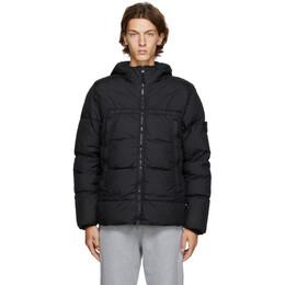 Stone Island Black Down Garment-Dyed Jacket 731540723