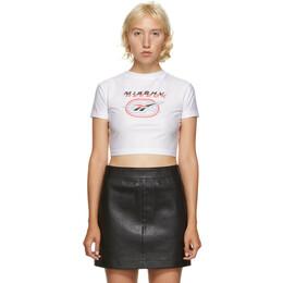Misbhv White Reebok Edition Cropped T-Shirt FT6015