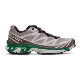 Salomon Purple and Green XT-6 Advanced Sneakers 412631