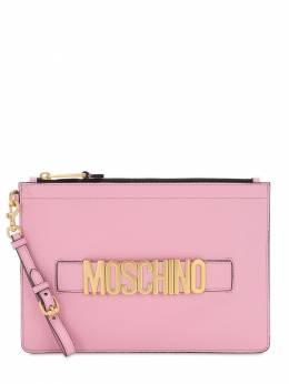 Кожаный Клатч С Логотипом Moschino 72IL0M021-MDIyMg2