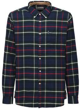 Рубашка Из Хлопковой Фланели В Клетку Barbour 72IK2G010-Tlk5MQ2