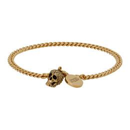 Alexander McQueen Gold Skull Bracelet 582695J160K