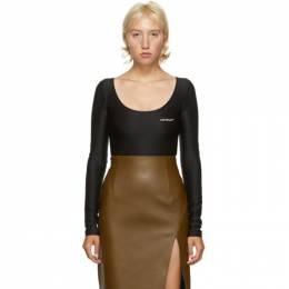 Off-White Black Long Sleeve Bodysuit OWDD025E20FAB0011001