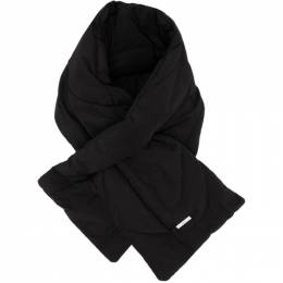 C2H4 Black Intervein Stitch Scarf R002-121