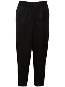 Брюки Из Шерстяного Габардина 15cm Comme Des Garcons Shirt 72IJRN011-MQ2
