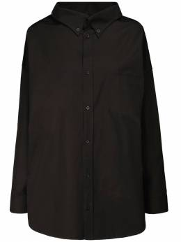 Рубашка Из Поплин С Логотипом Balenciaga 72IIUU040-MTAwMA2