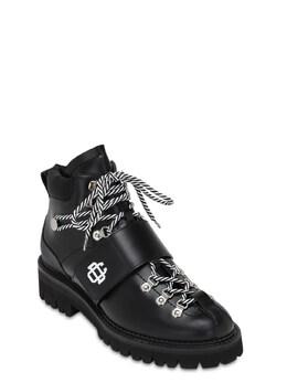 Кожаные Ботинки На Шнуровке 50мм Dsquared2 72IGH4004-MjEyNA2