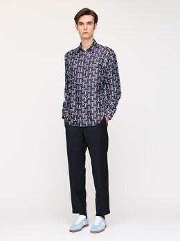 Рубашка Из Шелковой Саржи Lanvin 72IG0D019-Mjk1