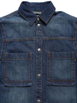 Рубашка-платье Из Хлопкового Стретч Деним Diesel Kids 72IFI2010-SzAx0