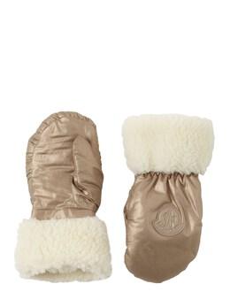 Перчатки Из Нейлона И Искусств. Овчины Moncler 72IFGT078-MTMw0