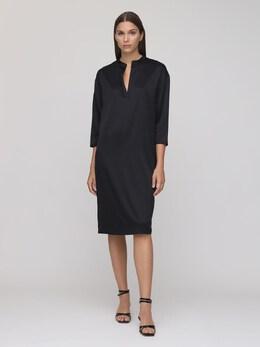 Платье Из Шелкового Атласа Max Mara 72IF4V009-MDA10