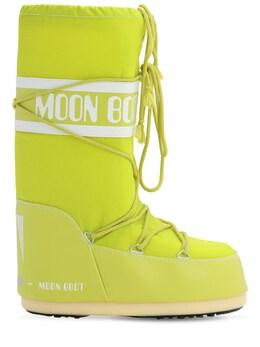 """Сапоги """"classic"""" Из Непромокаемого Нейлона Moon Boot 72IDLA001-MDcw0"""