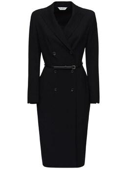 Платье Из Шерстяного Крепа Max Mara 72ICD5037-MDA40
