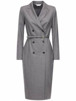 Шерстяное Платье-пиджак В Клетку Max Mara 72ICD5021-MDA00