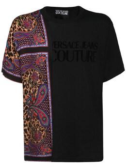 Хлопковая Майка С Принтом Versace Jeans Couture 72IBQN014-ODk50