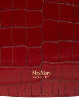 "Сумка Из Кожи С Крокодиловым Тиснением ""silvia2"" Max Mara 72IAIO008-MDAy0"