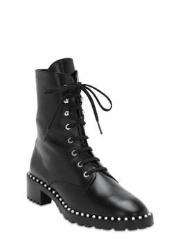 Кожаные Ботинки-комбат 25mm Stuart Weitzman 72IAHW021-QkxBQ0s1