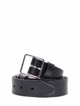 Кожаный Ремень С Двойной Пряжкой 3.5cm Alexander McQueen 72IA9V017-MTAwMA2