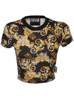 Топ Из Хлопка С Принтом Versace Jeans Couture 72IA88028-ODk50