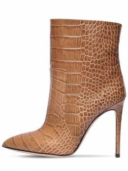 Ботинки Из Кожи С Крокодиловым Тиснением 105мм Paris Texas 72IX7O011-Mjk1NA2
