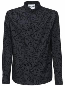 Рубашка Из Хлопка С Принтом Moschino 72IXH4001-MTU1NQ2
