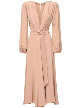 Платье Миди Из Крепа Maria Lucia Hohan 72I9VL017-TlVERQ2