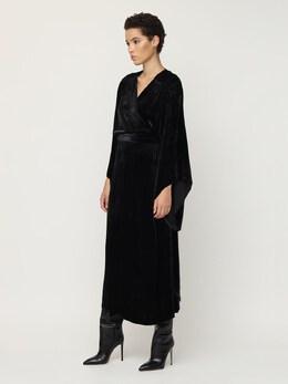 Платье Из Шелка И Бархата Maria Lucia Hohan 72I9VL011-QkxBQ0s1