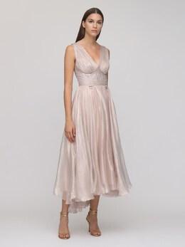 Платье Из Шелка Металлик Maria Lucia Hohan 72I9VL010-UExBVElOVU01