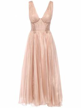 Платье Из Шелка Металлик Maria Lucia Hohan 72I9VL010-Q0FNRU8gUk9TRQ2