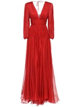 Длинное Шелковое Платье Maria Lucia Hohan 72I9VL008-U0FMU0E1
