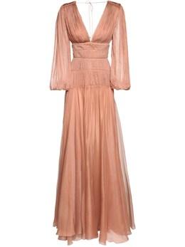 Длинное Шелковое Платье Maria Lucia Hohan 72I9VL008-QlJPTlpF0
