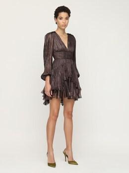 Платье Из Шелка Металлик Maria Lucia Hohan 72I9VL005-Q0FSQk9O0