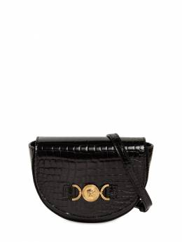Croc Embossed Patent Leather Bag Versace 72ILXR005-WVM5NUY1