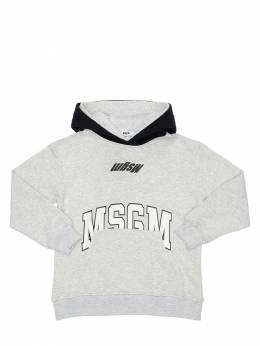 Logo Print Cotton Sweatshirt Hoodie MSGM 72I93F002-MTA30