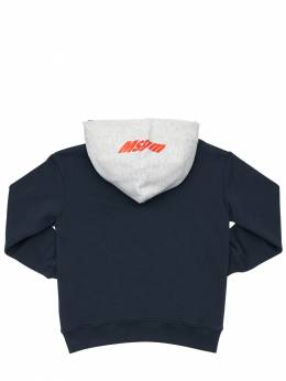 Logo Print Cotton Sweatshirt Hoodie MSGM 72I93F002-MDYw0