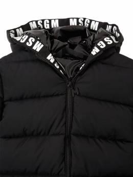Hooded Nylon Puffer Coat MSGM 72I93F001-MTEw0