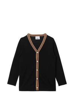 Striped Details Wool Knit Cardigan Burberry 72I937054-QTExODk1
