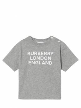 Logo Printed Cotton Jersey T-shirt Burberry 72I937039-QTEyMTY1