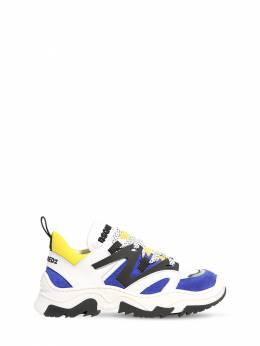 Neoprene & Leather Lace-up Sneakers Dsquared2 72I91X063-VkFSIDE1
