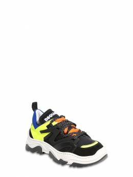 Neoprene & Leather Lace-up Sneakers Dsquared2 72I91X060-VkFSIDU1